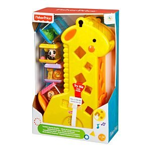 Brinquedo Girafa Blocos Fisher Price