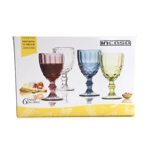 Jogo de Taças de Vinho Incasa 260ml
