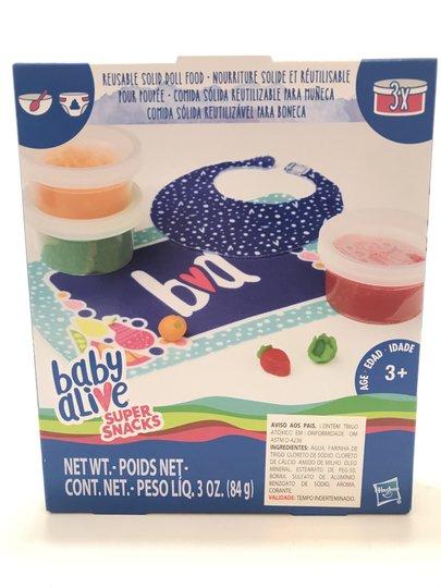 Kit Comida Sólida Reutilizável para Boneca Baby Alive