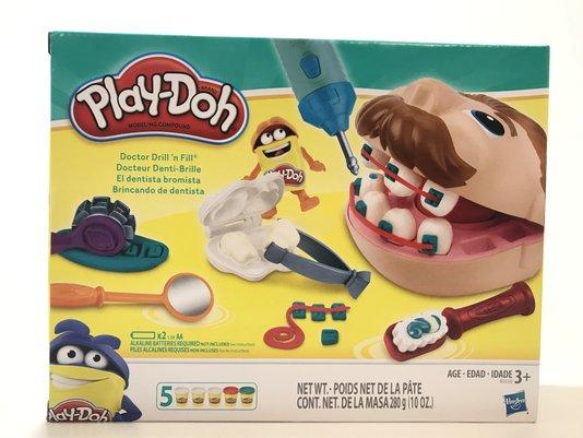 Massa de Modelar Brincando de Dentista Play-Doh