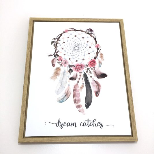Quadro em Canvas com Moldura Dream Catcher